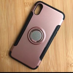 NEW Iphone X Pink Finger Ring Case